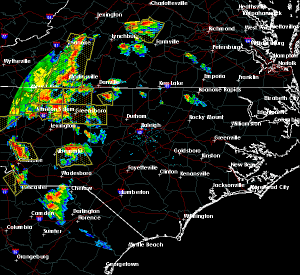 Radar Image for Severe Thunderstorms near High Point, NC at 7/13/2015 8:37 PM EDT
