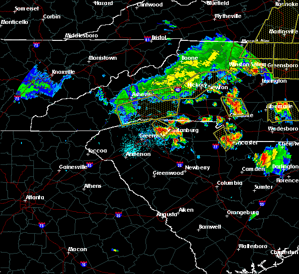 Radar Image for Severe Thunderstorms near Taylorsville, NC at 7/13/2015 8:39 PM EDT