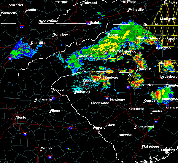 Radar Image for Severe Thunderstorms near Charlotte, NC at 7/13/2015 8:43 PM EDT