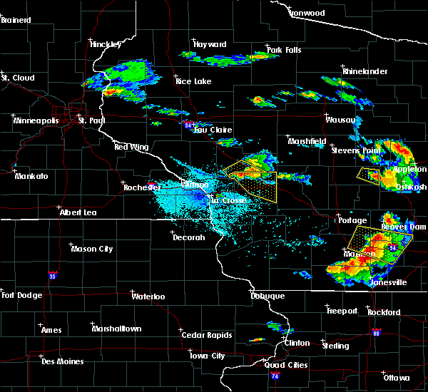 Radar Image for Severe Thunderstorms near Tunnel City, WI at 7/13/2015 7:44 PM CDT