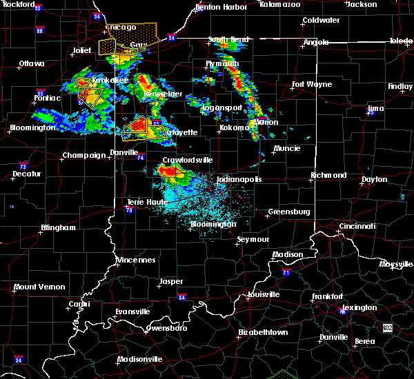 Radar Image for Severe Thunderstorms near New Market, IN at 7/13/2015 8:47 PM EDT
