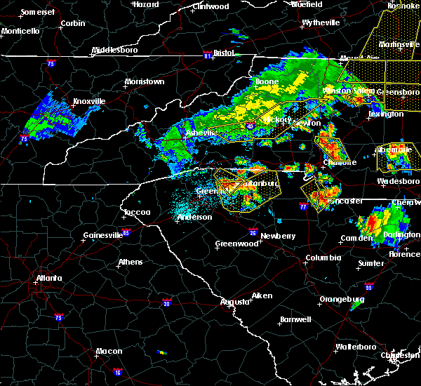 Radar Image for Severe Thunderstorms near Buffalo, SC at 7/13/2015 8:47 PM EDT
