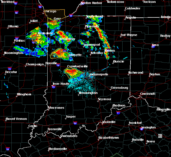 Radar Image for Severe Thunderstorms near Otterbein, IN at 7/13/2015 8:50 PM EDT