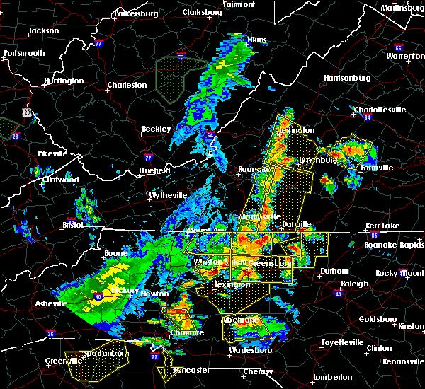 Radar Image for Severe Thunderstorms near Charlotte Court House, VA at 7/13/2015 8:52 PM EDT