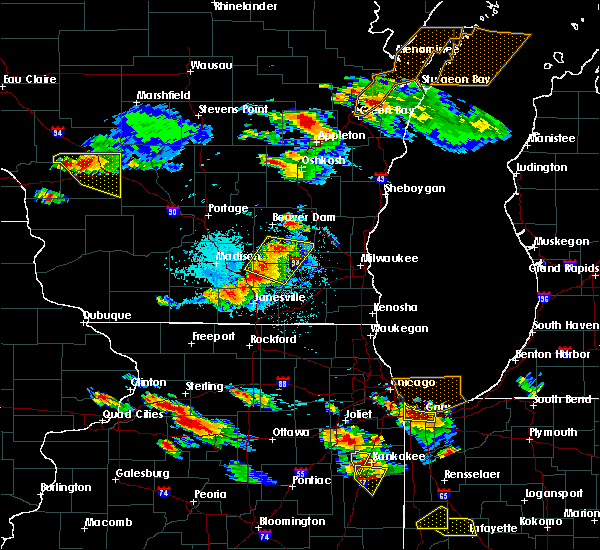 Radar Image for Severe Thunderstorms near Helenville, WI at 7/13/2015 7:53 PM CDT