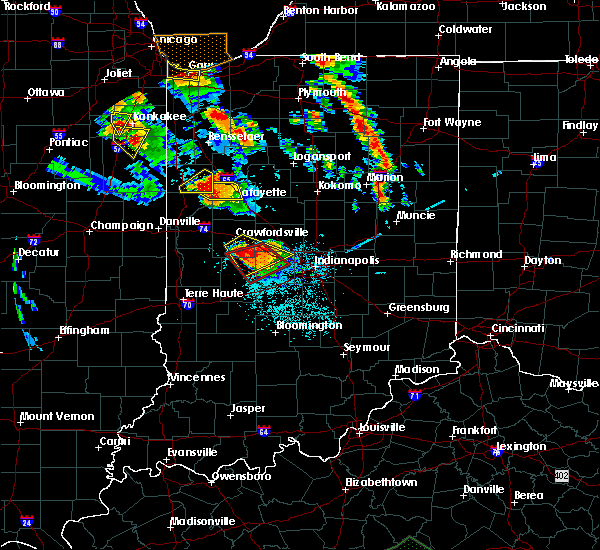 Radar Image for Severe Thunderstorms near Otterbein, IN at 7/13/2015 8:57 PM EDT