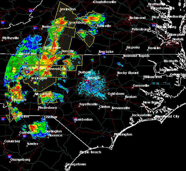 Radar Image for Severe Thunderstorms near Pinehurst, NC at 7/13/2015 8:58 PM EDT
