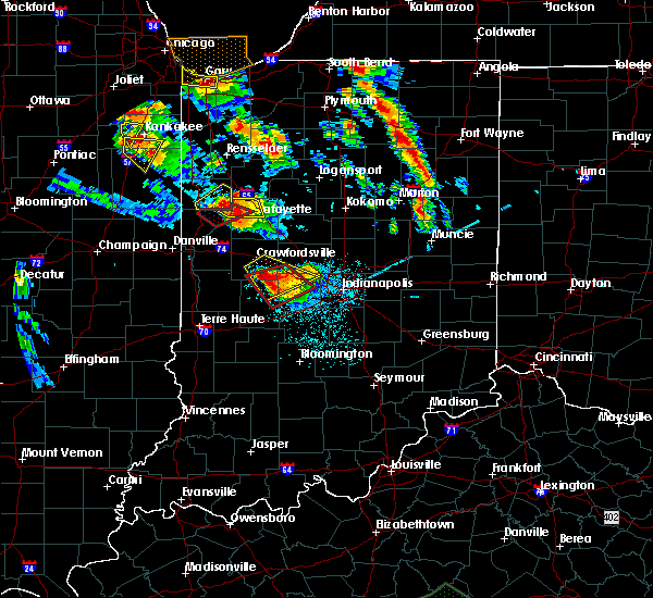 Radar Image for Severe Thunderstorms near Otterbein, IN at 7/13/2015 8:59 PM EDT