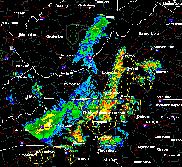 Radar Image for Severe Thunderstorms near Union Hall, VA at 7/13/2015 8:59 PM EDT