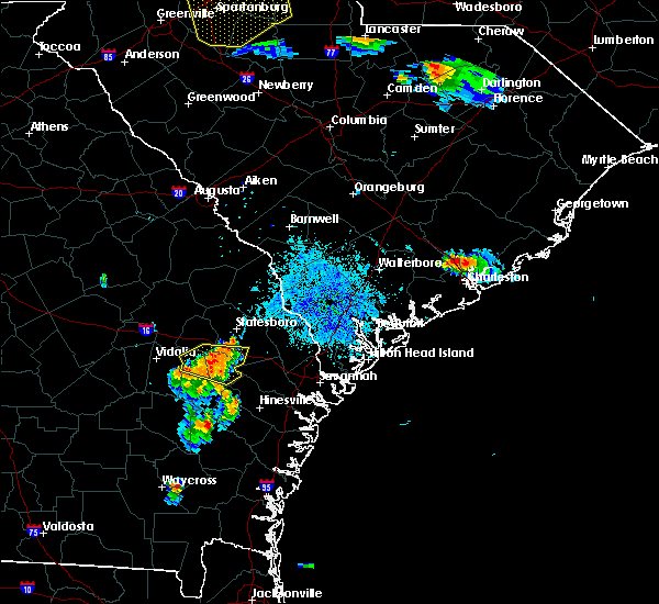 Radar Image for Severe Thunderstorms near Hollywood, SC at 7/13/2015 9:04 PM EDT