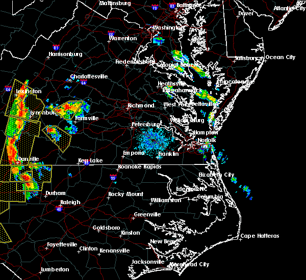 Radar Image for Severe Thunderstorms near Dillwyn, VA at 7/13/2015 9:05 PM EDT