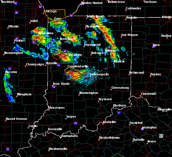 Radar Image for Severe Thunderstorms near Otterbein, IN at 7/13/2015 9:08 PM EDT