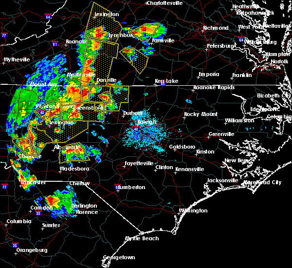 Radar Image for Severe Thunderstorms near Altamahaw, NC at 7/13/2015 9:09 PM EDT