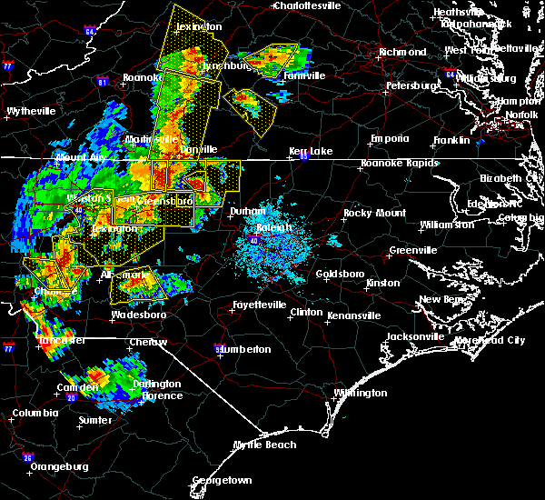Radar Image for Severe Thunderstorms near Ansonville, NC at 7/13/2015 9:11 PM EDT