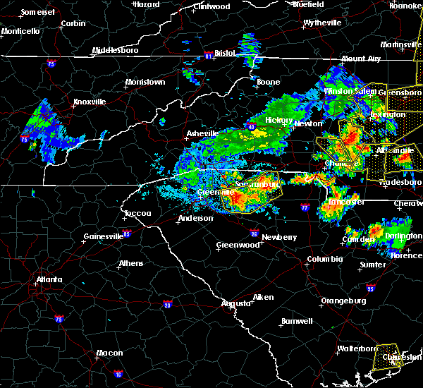Radar Image for Severe Thunderstorms near Jonesville, SC at 7/13/2015 9:11 PM EDT