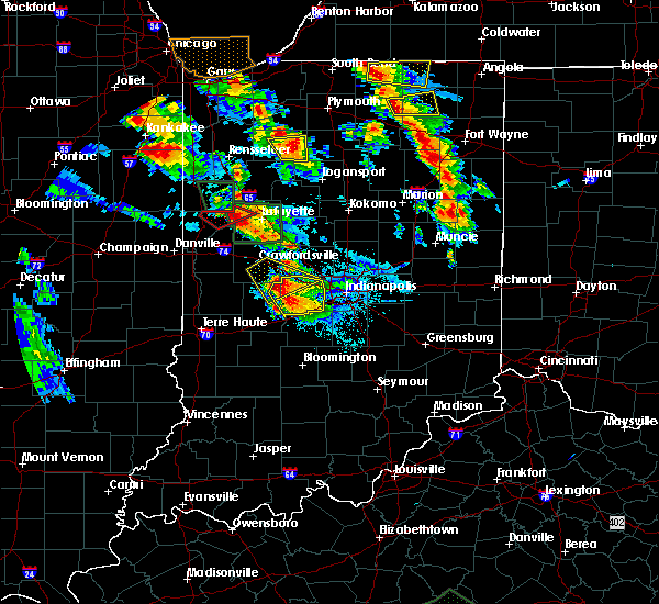 Radar Image for Severe Thunderstorms near Otterbein, IN at 7/13/2015 9:20 PM EDT