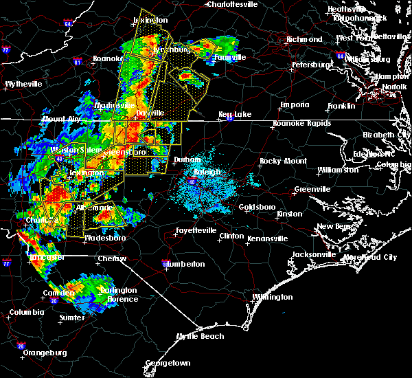Radar Image for Severe Thunderstorms near High Point, NC at 7/13/2015 9:21 PM EDT