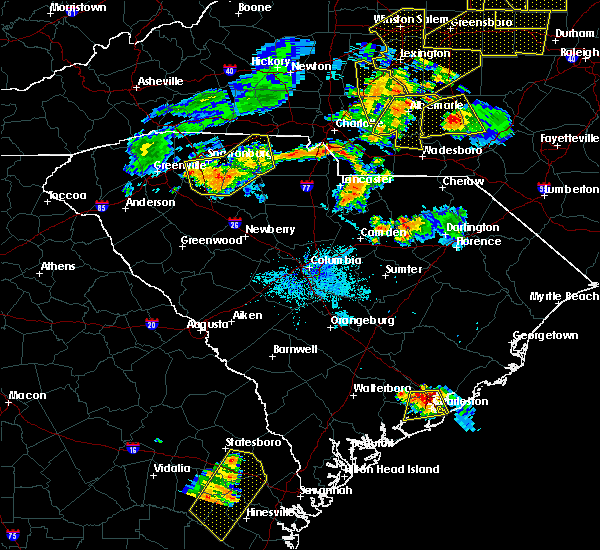Radar Image for Severe Thunderstorms near Mineral Springs, NC at 7/13/2015 9:27 PM EDT