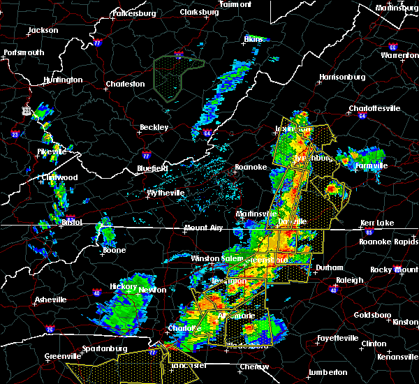 Radar Image for Severe Thunderstorms near Brookneal, VA at 7/13/2015 9:33 PM EDT