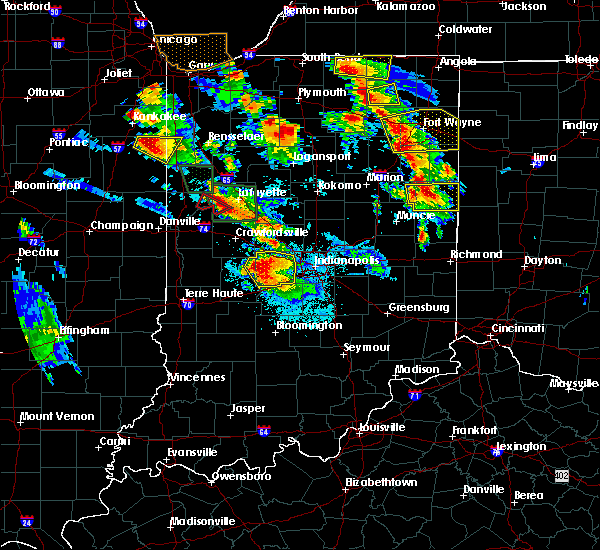 Radar Image for Severe Thunderstorms near Trafalgar, IN at 7/13/2015 9:37 PM EDT