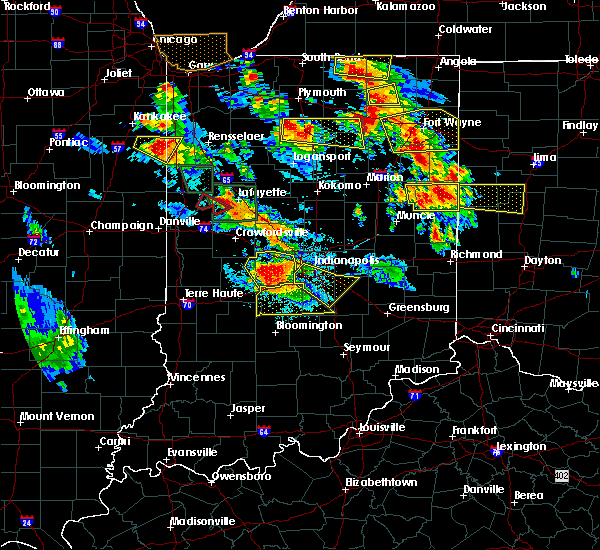 Radar Image for Severe Thunderstorms near Fairland, IN at 7/13/2015 9:42 PM EDT