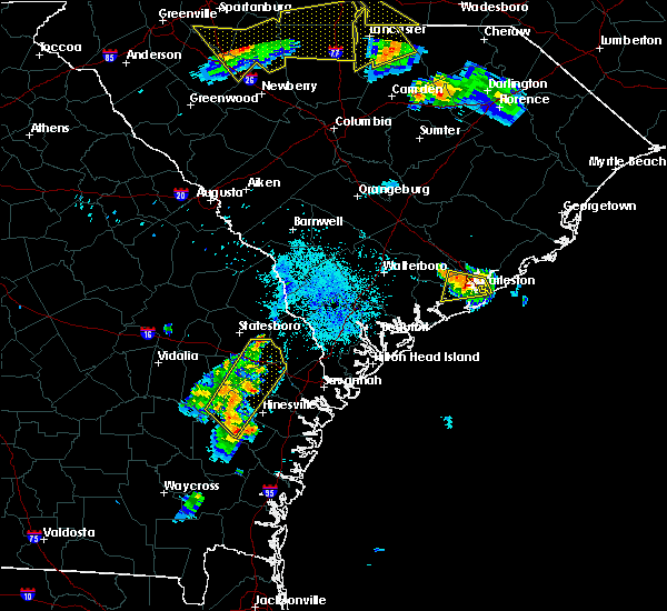 Radar Image for Severe Thunderstorms near Hollywood, SC at 7/13/2015 9:43 PM EDT