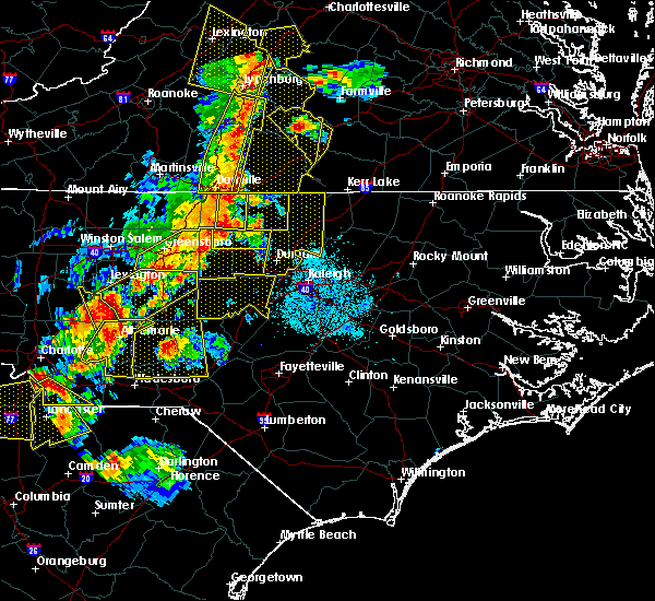 Radar Image for Severe Thunderstorms near Sanford, NC at 7/13/2015 9:45 PM EDT