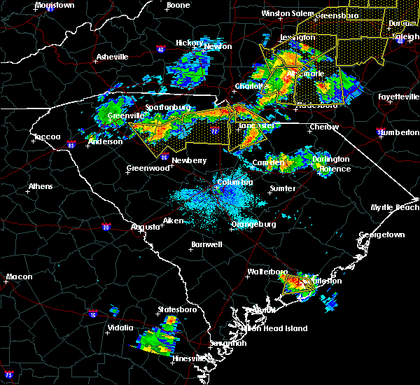 Radar Image for Severe Thunderstorms near Mineral Springs, NC at 7/13/2015 9:47 PM EDT