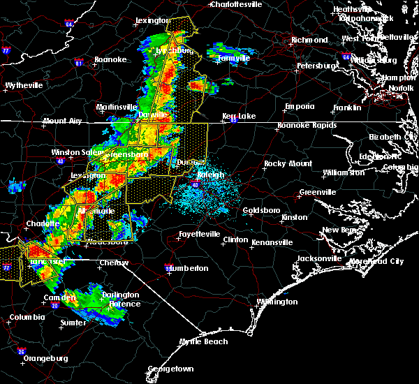 Radar Image for Severe Thunderstorms near Mount Gilead, NC at 7/13/2015 9:50 PM EDT