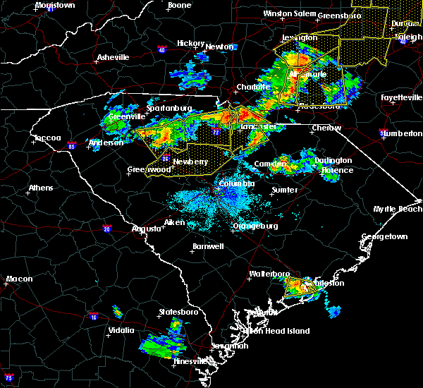 Radar Image for Severe Thunderstorms near Pageland, SC at 7/13/2015 9:56 PM EDT