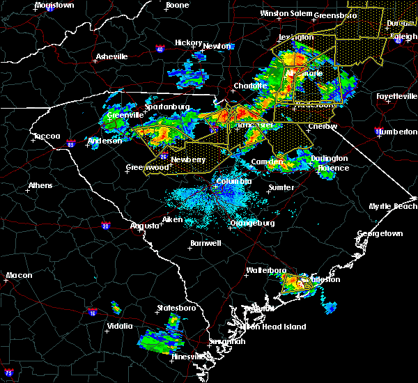 Radar Image for Severe Thunderstorms near JAARS, NC at 7/13/2015 9:57 PM EDT