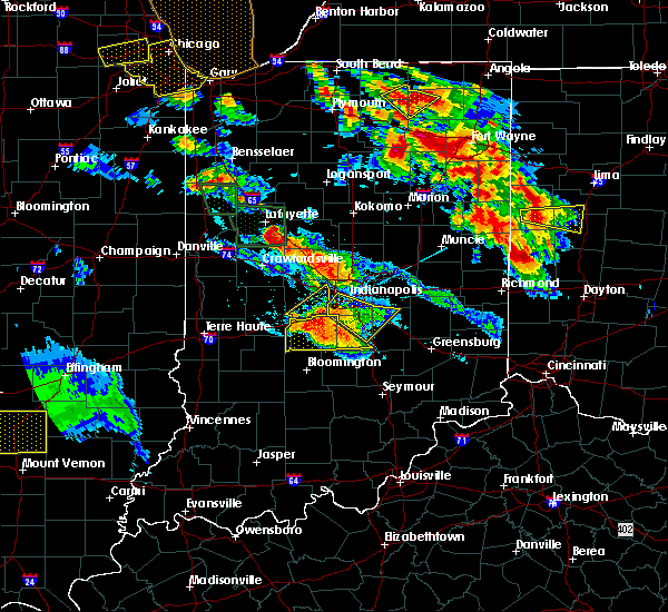 Radar Image for Severe Thunderstorms near Trafalgar, IN at 7/13/2015 10:05 PM EDT