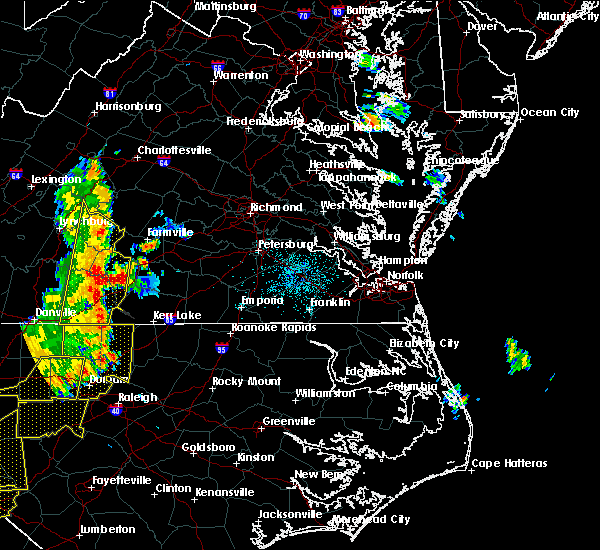 Radar Image for Severe Thunderstorms near Union Level, VA at 7/13/2015 10:14 PM EDT