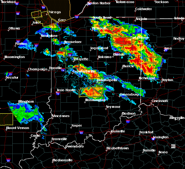 Radar Image for Severe Thunderstorms near Trafalgar, IN at 7/13/2015 10:18 PM EDT