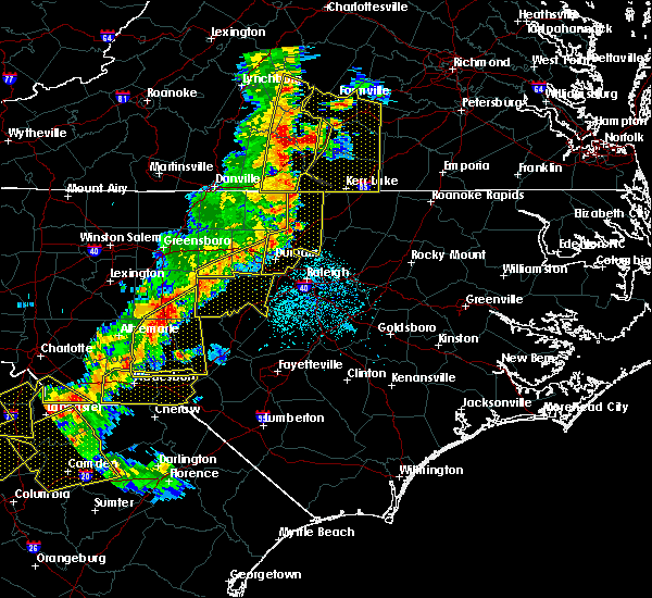 Radar Image for Severe Thunderstorms near Butner, NC at 7/13/2015 10:19 PM EDT