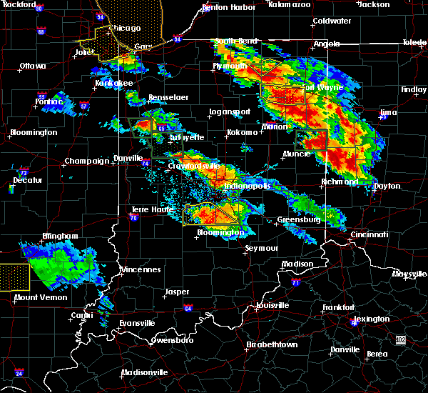 Radar Image for Severe Thunderstorms near Trafalgar, IN at 7/13/2015 10:24 PM EDT