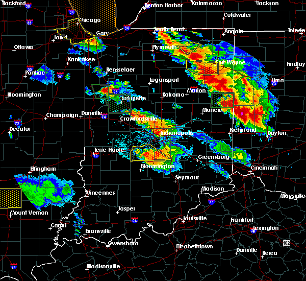 Radar Image for Severe Thunderstorms near Trafalgar, IN at 7/13/2015 10:28 PM EDT