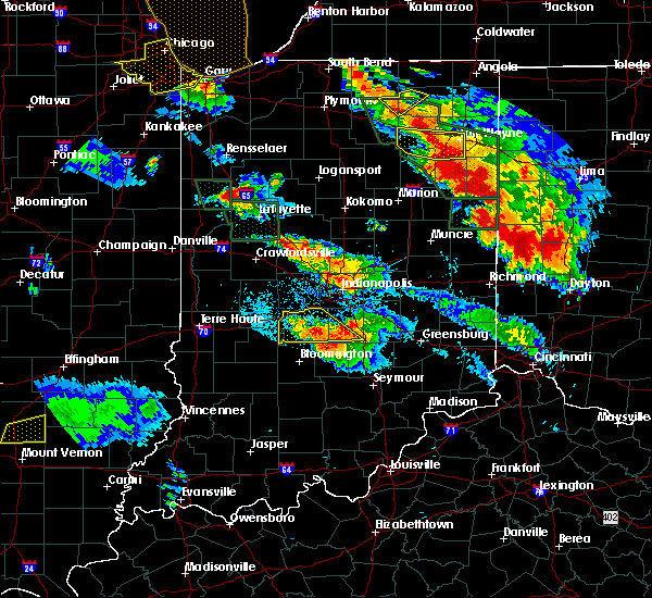 Radar Image for Severe Thunderstorms near Taylorsville, IN at 7/13/2015 10:34 PM EDT