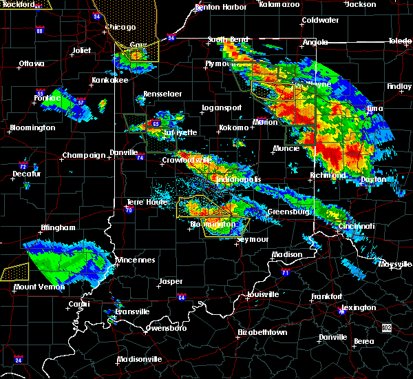 Radar Image for Severe Thunderstorms near Taylorsville, IN at 7/13/2015 10:40 PM EDT