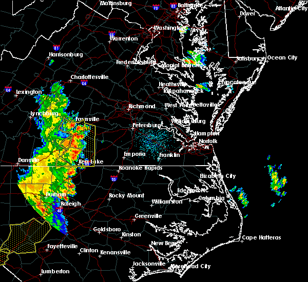 Radar Image for Severe Thunderstorms near Union Level, VA at 7/13/2015 10:54 PM EDT