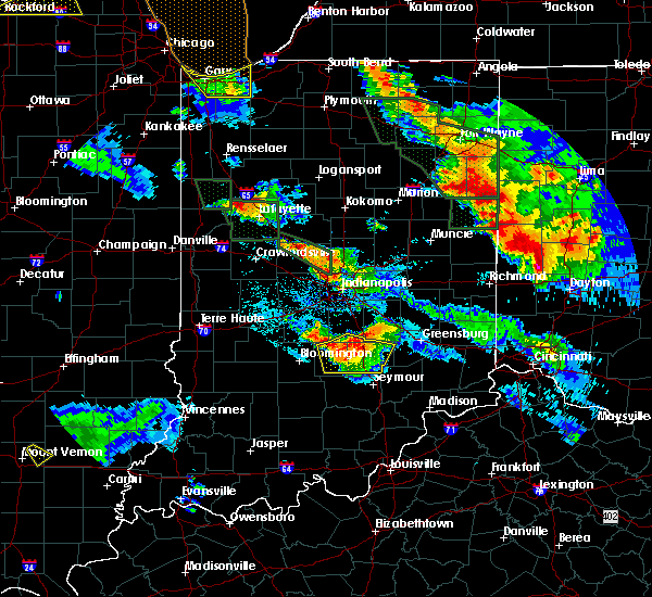 Radar Image for Severe Thunderstorms near Hope, IN at 7/13/2015 10:55 PM EDT