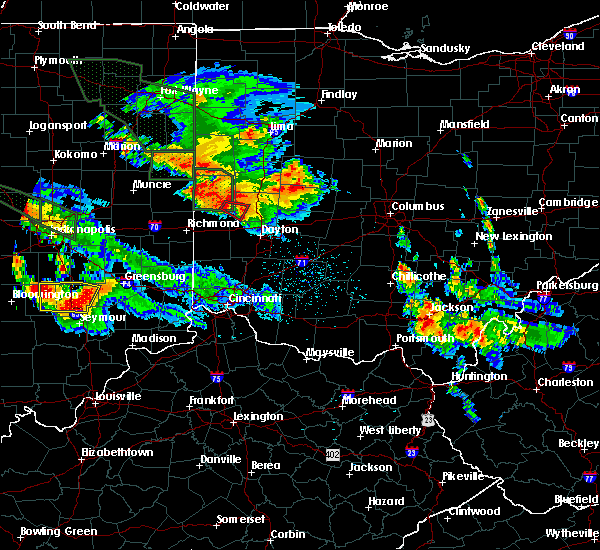 Radar Image for Severe Thunderstorms near Pleasant Hill, OH at 7/13/2015 11:10 PM EDT