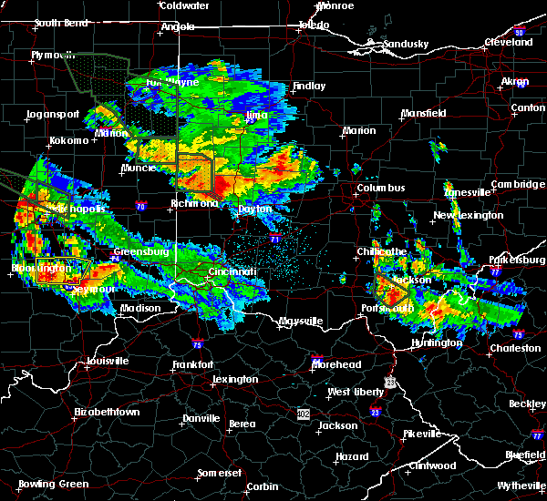 Radar Image for Severe Thunderstorms near Potsdam, OH at 7/13/2015 11:26 PM EDT