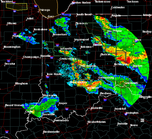 Radar Image for Severe Thunderstorms near Indianapolis, IN at 7/13/2015 11:30 PM EDT