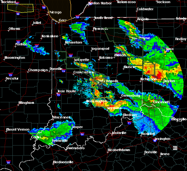 Radar Image for Severe Thunderstorms near Taylorsville, IN at 7/13/2015 11:33 PM EDT