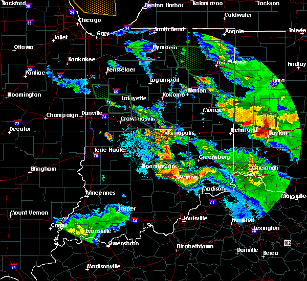 Radar Image for Severe Thunderstorms near Indianapolis, IN at 7/13/2015 11:44 PM EDT