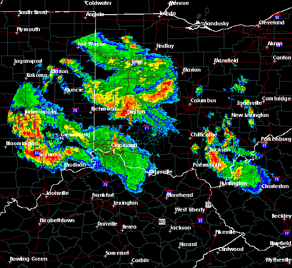 Radar Image for Severe Thunderstorms near Dayton, OH at 7/13/2015 11:52 PM EDT