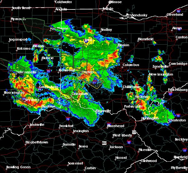 Radar Image for Severe Thunderstorms near Dayton, OH at 7/14/2015 12:04 AM EDT