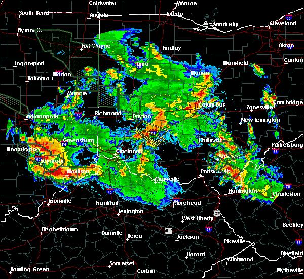 Radar Image for Severe Thunderstorms near Harveysburg, OH at 7/14/2015 12:32 AM EDT