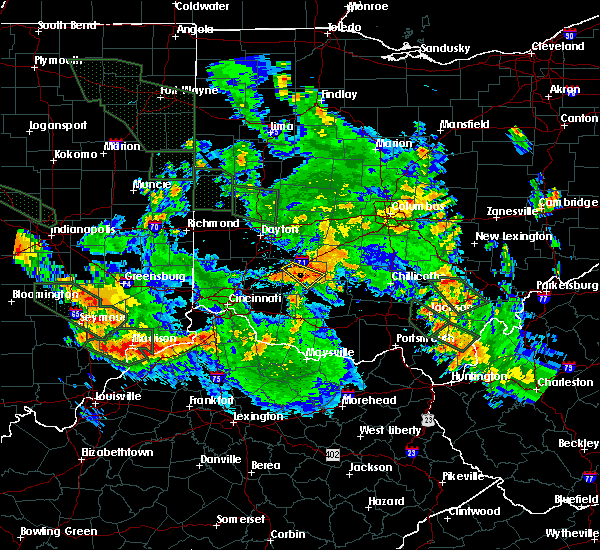 Radar Image for Severe Thunderstorms near New Vienna, OH at 7/14/2015 12:43 AM EDT